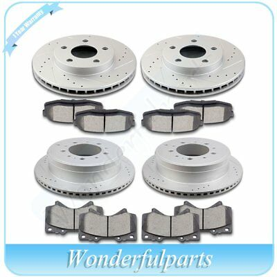 For 2010 2011 2012 2013 2014 2015 Tundra Front Rear Brake Rotors & Ceramic Pads