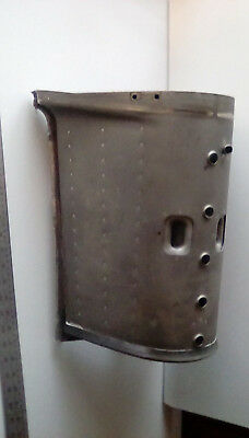 Vintage Industrial Aircraft Part for waste or storage Bin / coffee table base