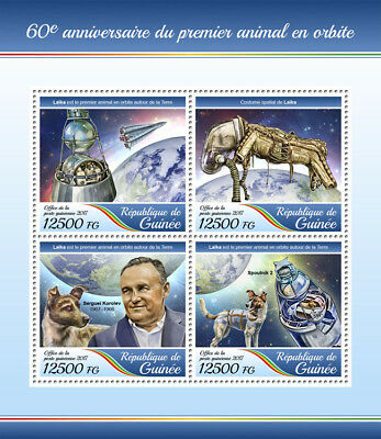 Z08 GU17403a Guinea (Guinee) 2017 First animal dog in space cosmos MNH ** Postfr