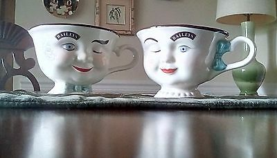 Mr. And Mrs. Bailys winking coffee cups