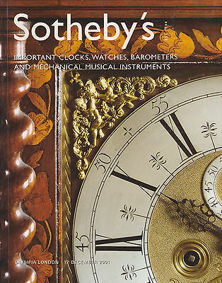 Important Clocks, Watches,  Barometers & Mechanical Music Auction Catalogue