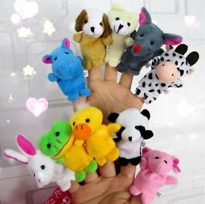 10 PCS Farm Zoo Animal Finger Puppets kids Toy ,Party Bag Filler,Educational Toy