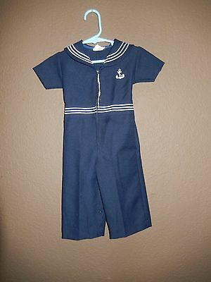 Vintage 50's 60's toddler Sailor Suit, cool,anchor Rockabilly