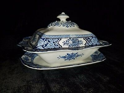 Wood & Sons China Khotan Semi-Porcelain Vegetable Tureen and Underplate Dish