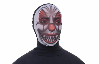 Disappearing Man Hooded Mask Adult: Scary Clown One Size