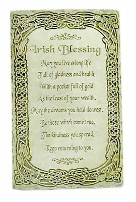 """Irish Blessing """"May You Live a Long Life"""" 8"""" Wall Plaque"""