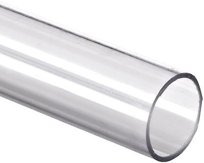 """Polycarbonate Tubing 3/4"""" ID x 1"""" OD x 1/8"""" Wall Clear Color 36"""" L 36 inches"""
