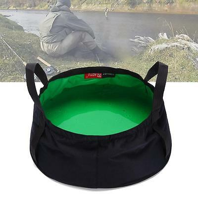 Foldable Wash Basin In Carry Bag Outdoor Camping Washing Hygiene Sink Green A-