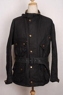 Mens BARBOUR International Suit Navy WAXED Jacket Size 50