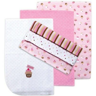Luvable Friends Flannel Receiving Blankets Pink 6 Count