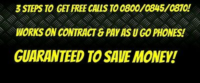 Free Calls To Almost Any 08 Numbers Guaranteed!