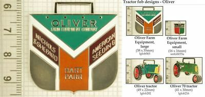 Allis Chalmers tractor decorative fobs various designs /& keychain options
