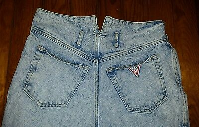 Guess Georges Marciano High Waisted Stone Wash Vtg Denim Mom Jeans Retro Size 29