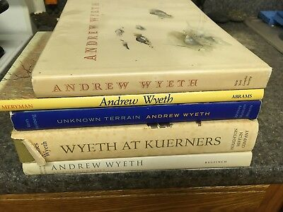 Lot of 5 Andrew Wyeth art books painting