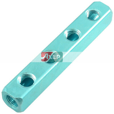 Air Pneumatic Cylinder 4 Positions Aluminum Manifold Block Splitter