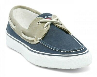 Sperry Top-Sider Herrenschuh Bahama Canvas Navy / Khaki Stoffschuh Gummisohle