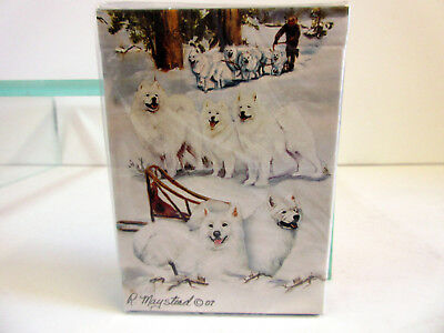 New Samoyeds Dog Poker Playing Card Set of Cards by Ruth Maystead Samoyed SAM-PC
