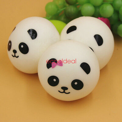 10cm Jumbo Squishy Cute Panda Charms Buns Cell Phone Charm Pendant Bag Strap