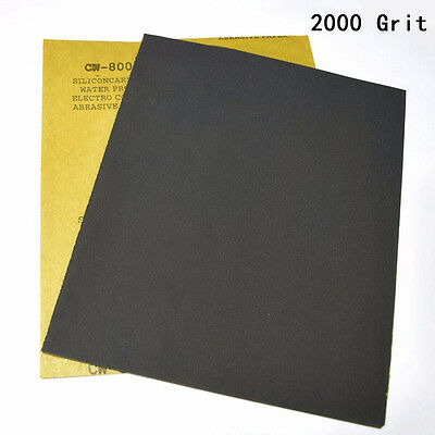 2 Sheets Sandpaper Car Polished Polishing Sand Paper 2000 Grits Black Multi-use