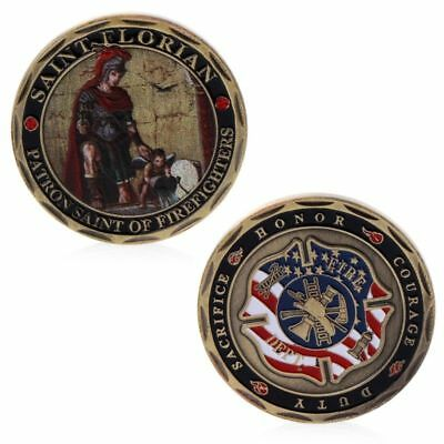 St. Florian Patron Saint Fire Rescue Firefighters Commemorative Coin Collection