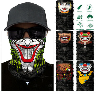 Clown Cycling Motorcycle Neck Tube Ski Scarf Face Mask Balaclava For Halloween.