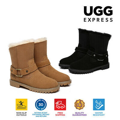UGG Ladies Fashion Boots Sarah - Sheepskin lining&Insole, Suede Upper, Short Sty