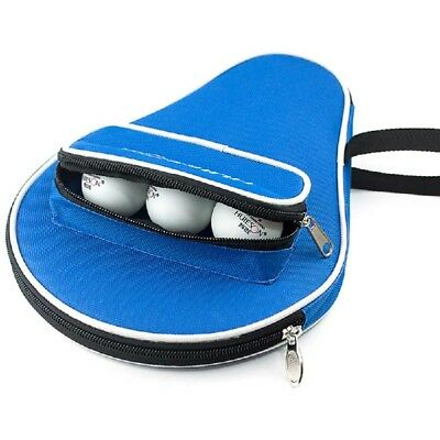 Table Tennis Ping Pong Paddle Cover Racket Bag Black/Blue Training Case