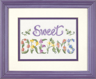 Dimensions - Mini Crewel Embroidery Kit - Flowery Sweet Dreams - D06235