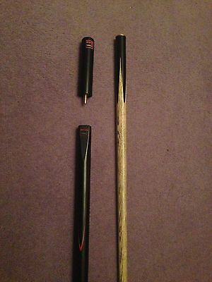 """BCE Classic 3/4 length 57"""" Handmade Ash Snooker / Pool cue. Incl 5"""" extension."""