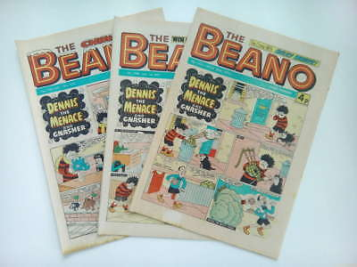 BEANO COMICS from the 1970s Vintage Collectable * Buy 4 get 1 FREEE *