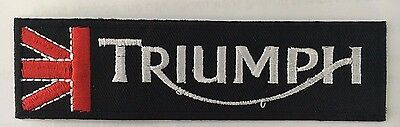 Embroidered  cloth patch ~ Triumph logo Union Jack.    B031001