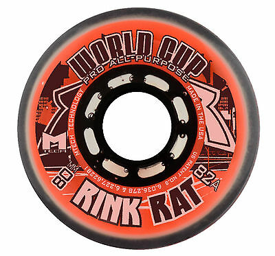 Crazy World Cup Inline Wheels - 82A - 72mm - Each - ROLLER BLADE WHEELS