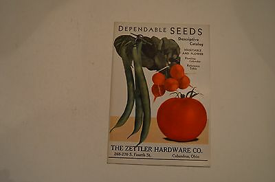 Original vintage seed catalog, Zettler Hardware Co.  Columbus, Ohio. Near Mint.