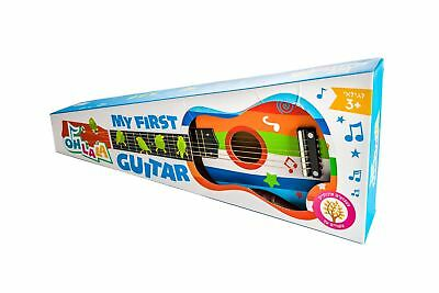 """My First Acoustic Guitar 21.5"""" with Extra Strings Beginners Wood Guitar"""