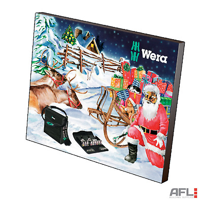 Wera Christmas Advent Tool Calendar 2017 - 34 Piece Screwdriver Socket Tool Kit