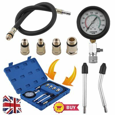 NEW Automotive Petrol Engine Compression Tester Gauge Kit With Box For Car Motor