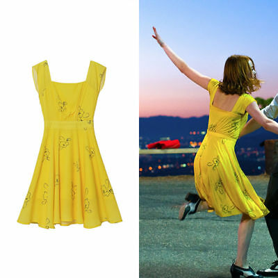La La Land Emma Stone Mia Cosplay costume Kostüm Kleid Dress Abendkleid M (EU S)