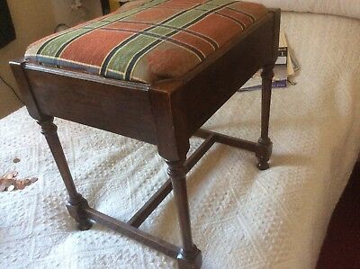Edwardian piano stool