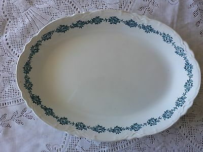 Antique Soho Pottery Cobridge England Platter 'rosa'