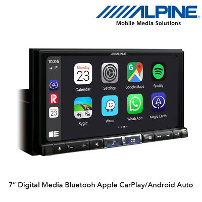 "Alpine iLX-702D 7"" Digital Media Receiver Apple CarPlay & Android Auto Stereo"