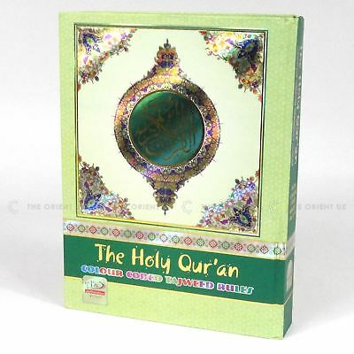 The Holy Quran Qur'an Colour Coded Tajweed Large Bold Letters 13 Lines 25x19 cm