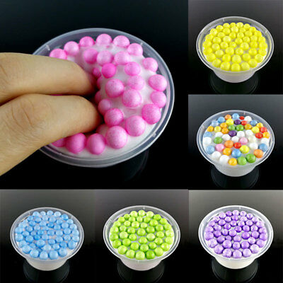 colorful Kids Anti-stress Toys Fluffy Clear Glitter Floam Beads Slime Relax