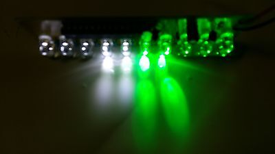 2PCS LED Assembled PCB Strobe Flash Light Show Effect for 9V Battery White Green