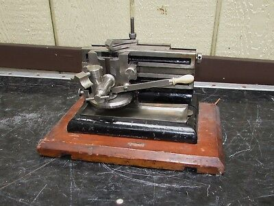 Antique Bausch and Lomb Microtome Scientific Laboratory Equipment
