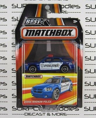 MATCHBOX 1:64 2017 Best of The World Case B DODGE MAGNUM Police Wagon MB680