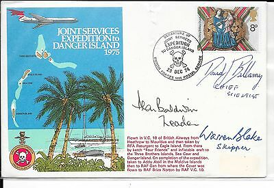 Gb 1974 Joint Services Expedition Danger Island.several Signatures