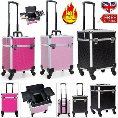 Pro Extra Large Makeup Trolley Case Beauty Vanity Cosmetic Nail Tech Box Storage