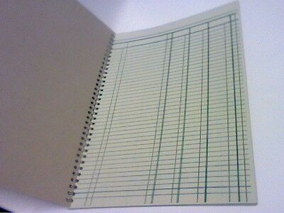 A4 Accounts/book Keeping Wirebound Treble Cash Book 50 Pages Also Ledger/journal