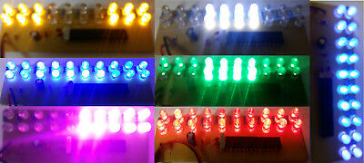 7pcs LED array board 20 LED Assembled PCB Strobe Flash Light Effect 9V Battery