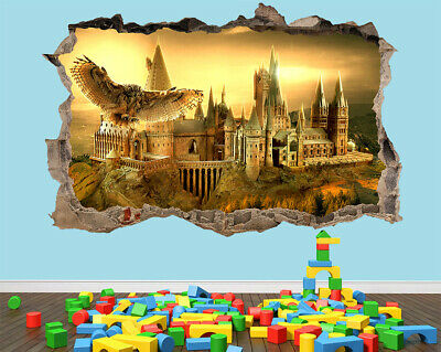 Hogwarts Harry Potter Bedroom 3D Hole Wall Sticker Decal Art Vinyl Poster Kids